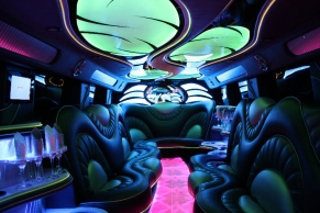 Stretched Hummer Limousine Interior